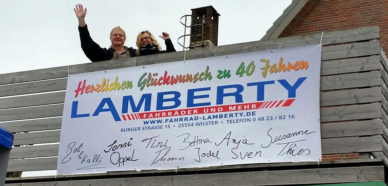 40. Firmenjubiläum feierten Frank Lamberty und seine Frau Petra 2016