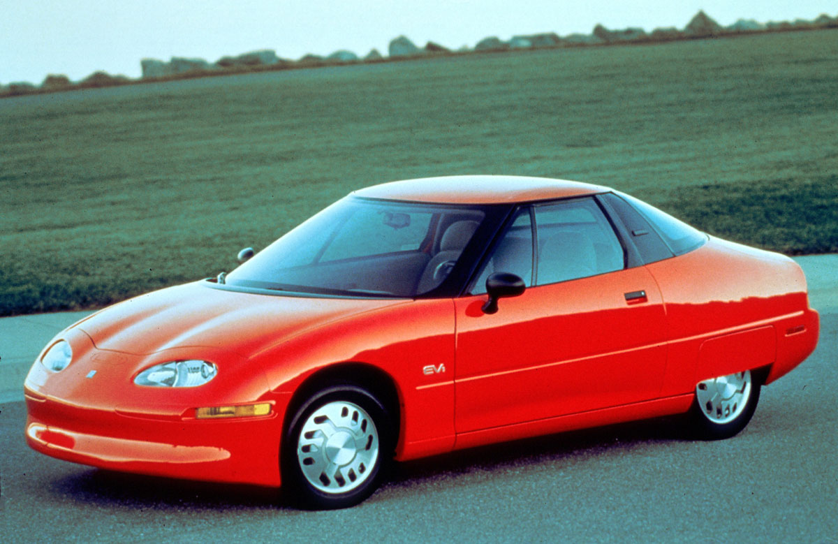 Vor-Ahnung: Der Urahn aller seriellen E-Pkw war 1996 der EV1 von General Motors