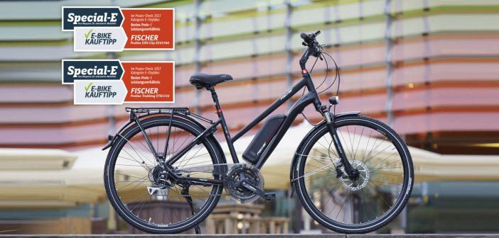 Im Praxis-Check: das E-Citybike Fischer Proline EVO City ECU 1760 und das Fischer Proline Trekking ETD 1722