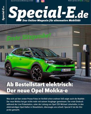 Ab Bestellstart elektrisch: Der neue Opel Mokka-e - Was sich auf den ersten Presse-Fotos im Vorfeld schon erahnen ließ zeigte auch die Realität: Der neue Mokka hat gar nichts mehr mit seinem Vorgänger gemeinsam. Der erste Eindruck während der Live-Präsentation, unter der Leitung von Opel CEO Michael Lohscheller, in den altehrwürdigen Opel-Hallen in Rüsselsheim, überzeugte uns schnell. Von Christoph Wisberg - Special-E hat die Sitzprobe gemacht. Jetzt kostenlos online lesen. https://www.special-e.de/wp-content/uploads/2020/11/Special-E-Sonderveröffentlichung12__11-11-2020.pdf